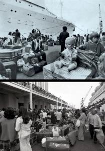 Retornados - returnees from Africa, 1975. /Source: dn.pt, Global Imagens / Sábado.pt/