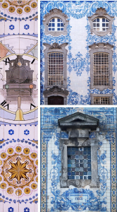 Locals are also proud of their buildings covered with hand-painted tin-glazed tiles (azulejo, after the Arabic al zulaycha [=polished stone]). This ceramic technic was introduced by the Moors (muslim people from North Africa), who ruled most parts of the peninsula for centuries. (multiple locations: São Bento railway station; Church of Our Lady of Carmo; Church of Santo Ildefonso)