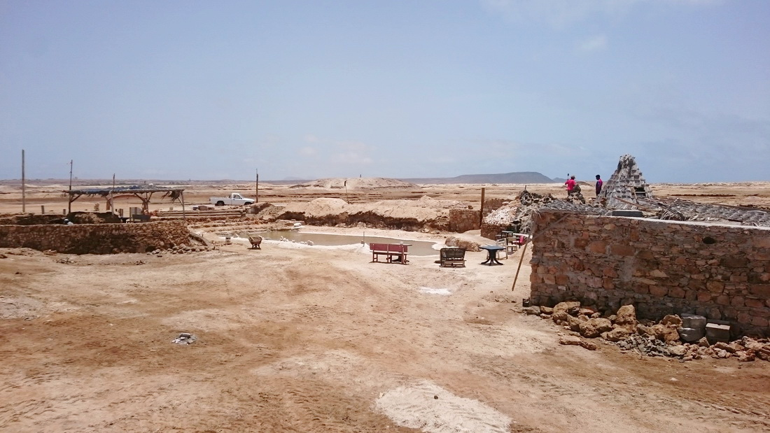 A local family have identified business opportunity in this barren, Moon-like land: they are constructing a small wellness center with a saltwater pool, a massage and a bar.