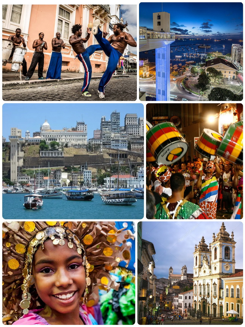 The old town of Salvador on a postcard handmade - these images would have stayed with me if I had been a tourist. /Image: terrainfinita.hu, photos: epimg, turismobrasil, viajablog, travelsauro, carnevaland, depositphotos/